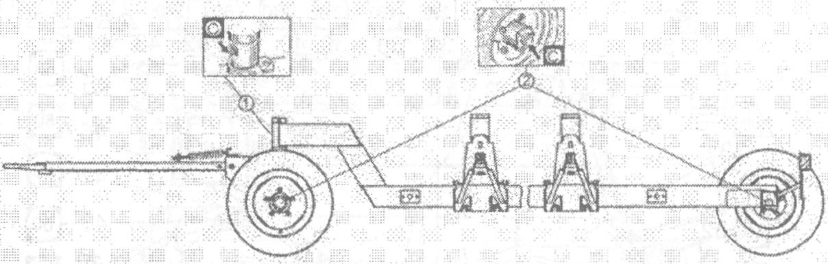 Схема смазки транспортной тележки